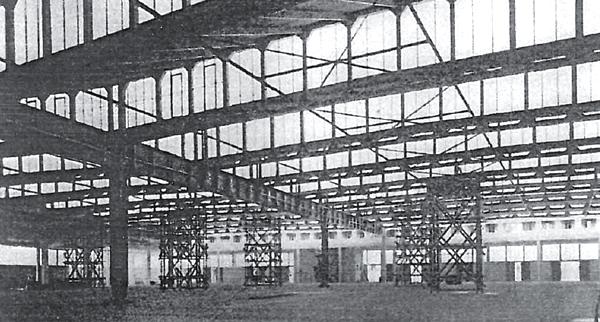 Die Sheddach-Konstruktion der Alten Rindermarkthalle